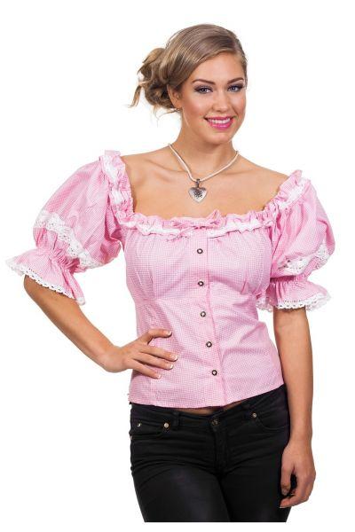 Oktoberfest Tiroolse Dirndl Blouse roze