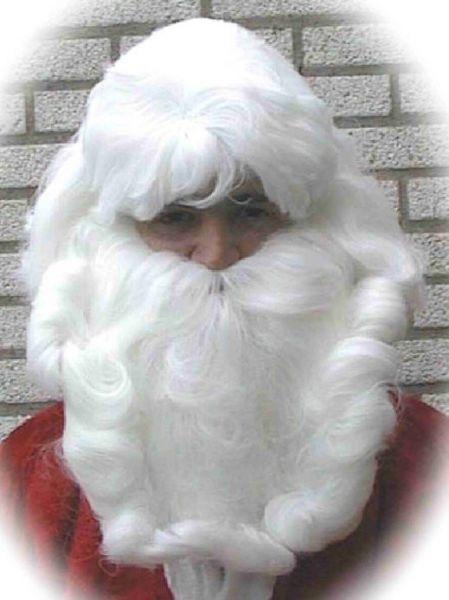 Kerstman haar set pruik baard en snor