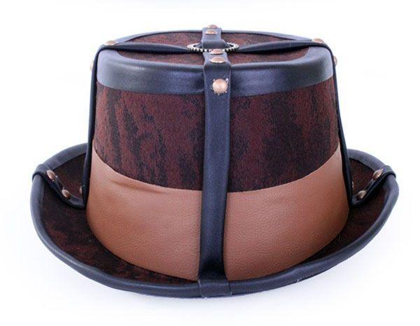Steampunk hoed bruin decoratief