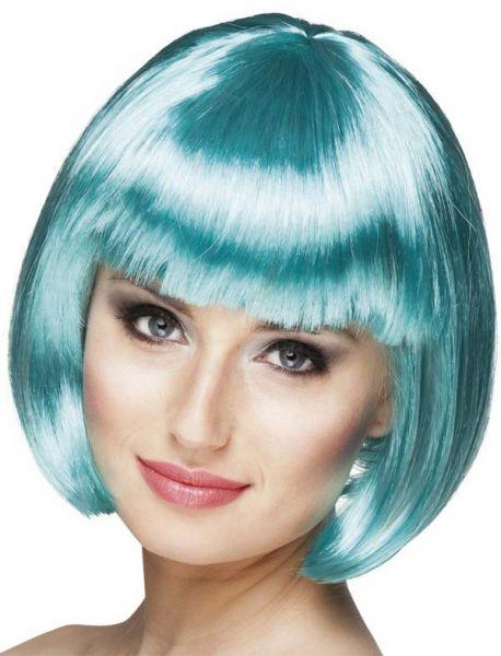 Damespruik Bobline Turquoise