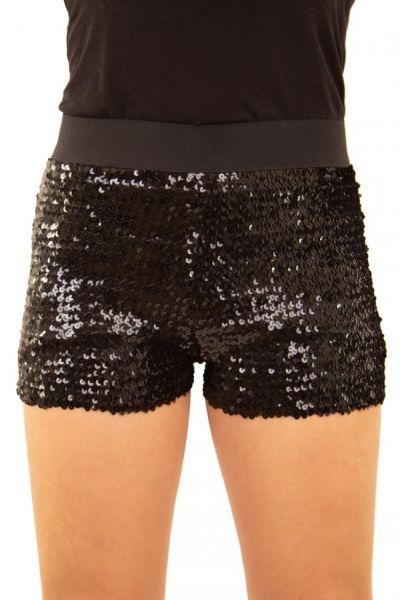 Hotpants met pailletten zwart