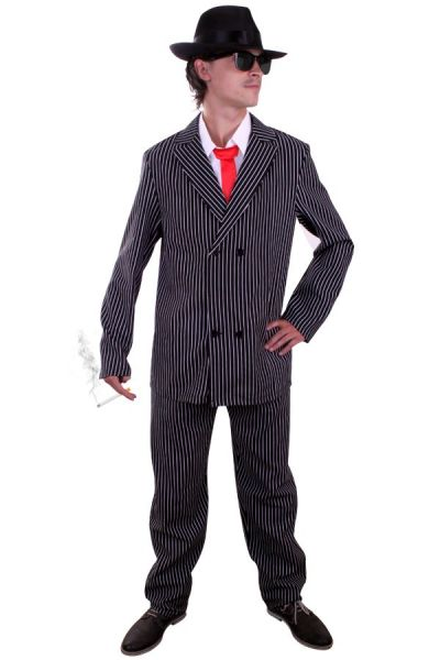 Gangster Maffia kostuum met krijtstreep