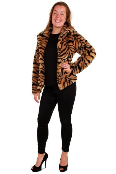 Dames Pimp Bontjas tijger print