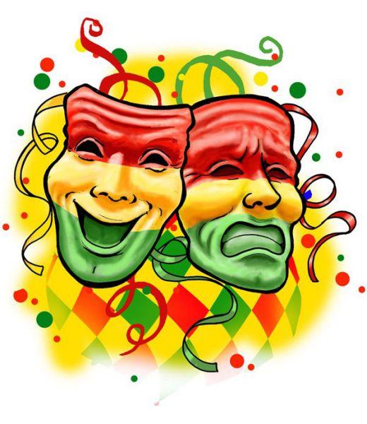Raamsticker een lach en traan rood geel groen