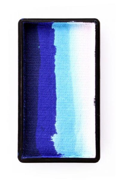 PartyXplosion splitcake diepblauw blauw lichtblauw wit PXP