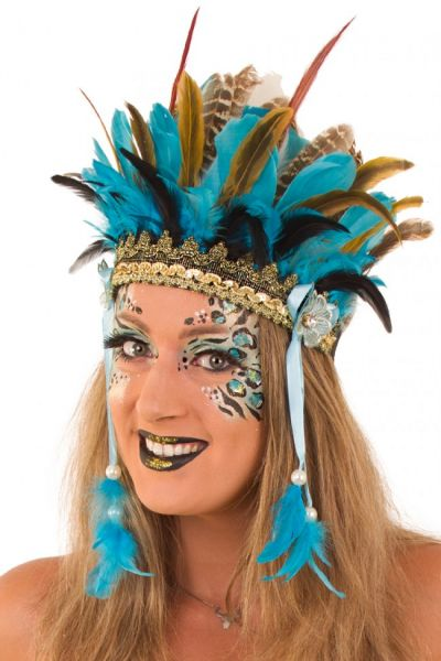 Indianen dans veren hoofdtooi Wichita