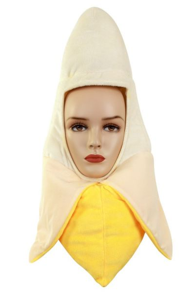 Grappig geschilde banaan hoofd