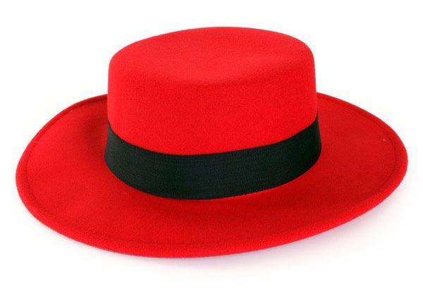 Spaanse hoed rood met band