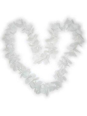 Hawaii halsketting wit kransen 12 stuks