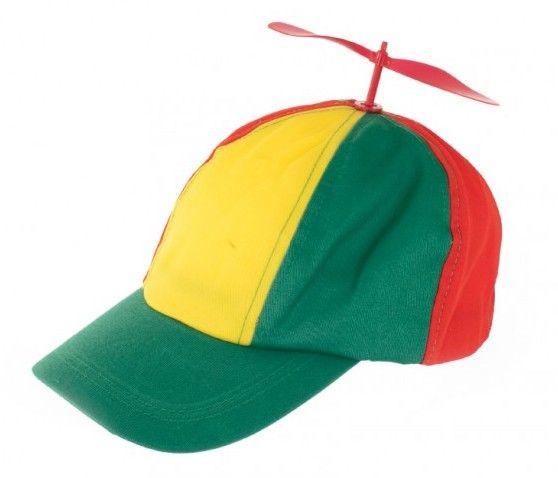 Pet met propeller rood geel groen carnaval