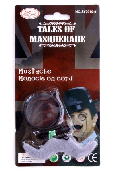 Detective Sherlock Holmes Monocle met snor
