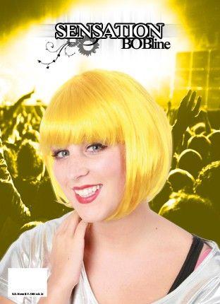 Bobline dames pruik geel sensation
