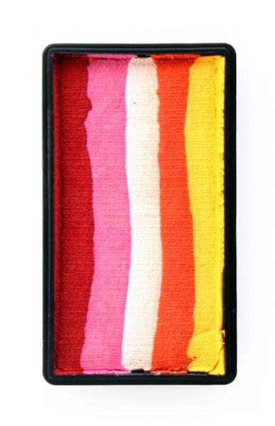 One Stroke splitcake rood pink wit oranje geel schmink