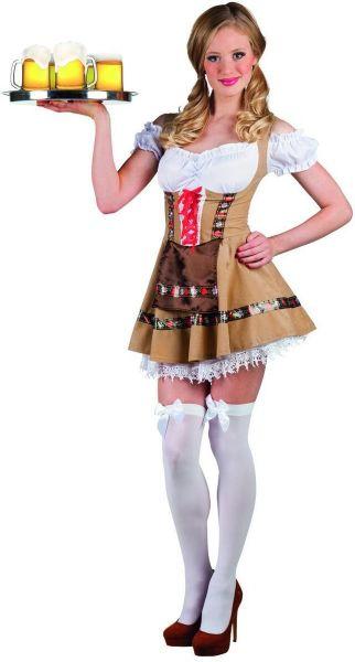 Oktoberfest Dirndl jurkje tirolermeisje Alpine