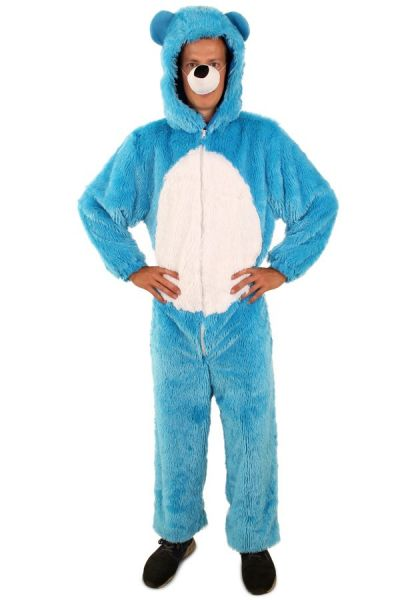 Lichtblauw berenkostuum met wit buikje