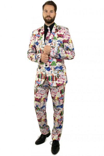 Grappig 3-delig Graffiti kostuum