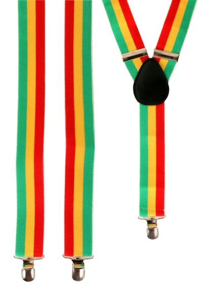 Carnavals bretels rood - geel - groen