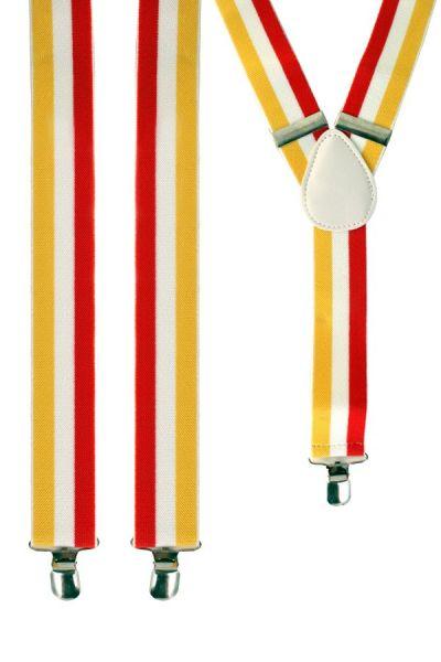 Bretels rood - wit - geel oeteldonk