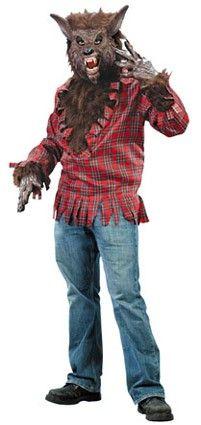 Weerwolf shirt met masker volwassen