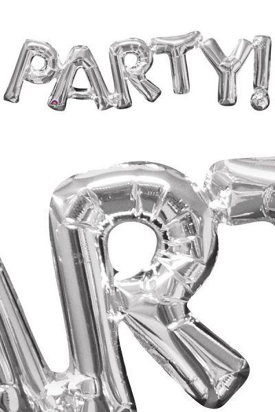 Folie ballon Party zilver