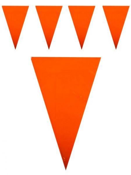 Koningsdag vlaggenlijn oranje 120m feestversiering