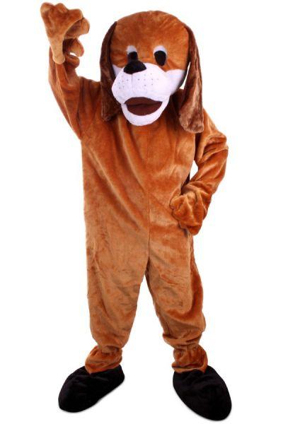 Hondenkostuum van pluche bruin