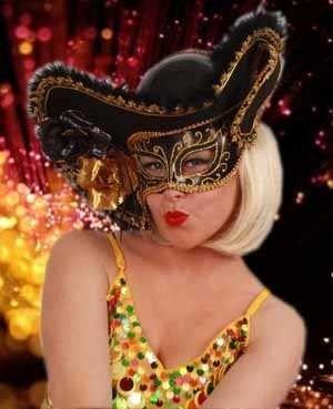 Venetiaanse hoed met oogmasker