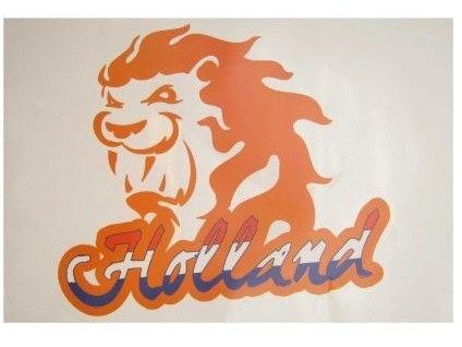 Raamsticker Nederlandse oranje leeuw