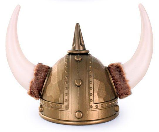 Vikinghelm goud met bont