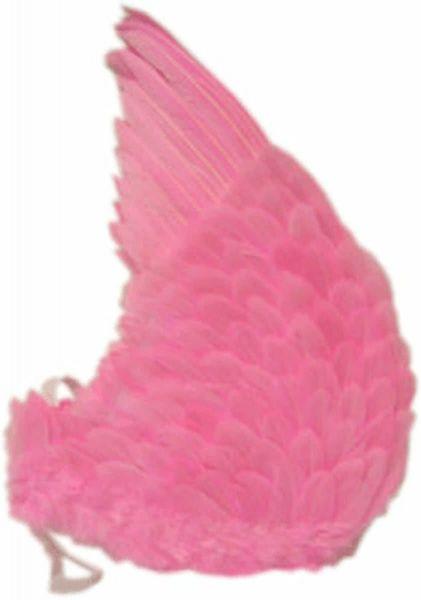 Toppers Engelenvleugels van roze veren