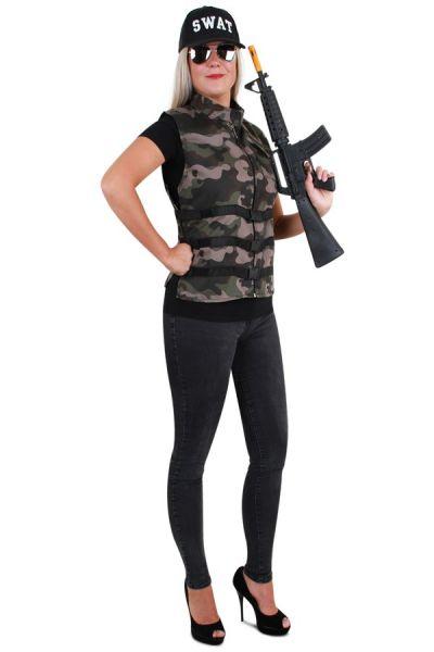 Stoer camouflage dames vest
