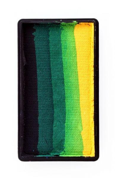 One Stroke splitcake zwart donkergroen groen lichtgroen geel schmink