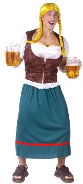Oktoberfest kleding Dirndl man borsten als biertap