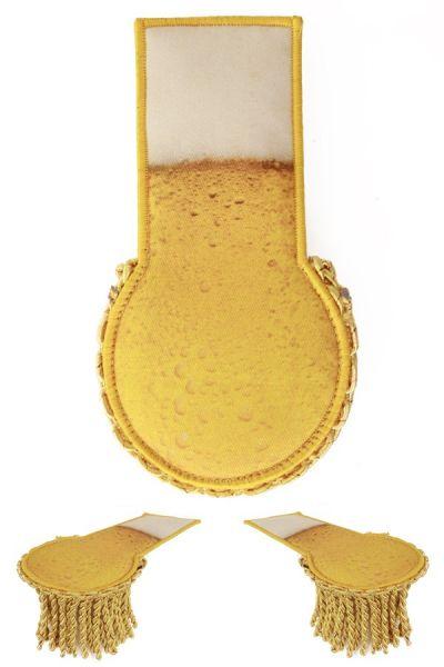 Set schouder epauletten bier print
