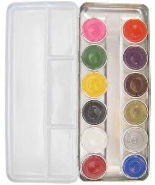 Schminkpalet aqua met 12 kleuren