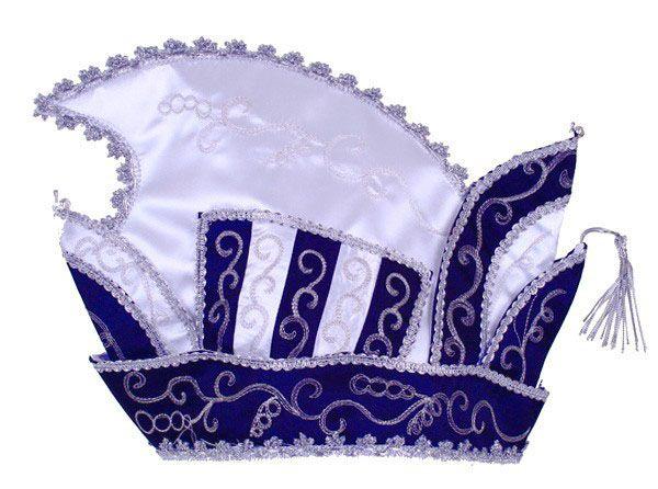 Prinsensteek blauw - wit