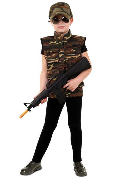 Stoer Camouflage vest kinderen