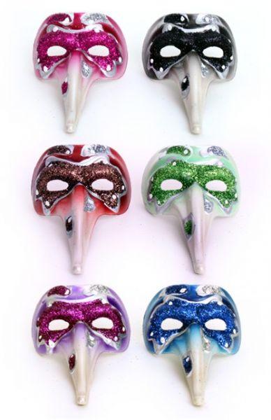12 Mini venetiaanse decoratie snavelmasker mix