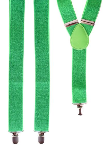 Bretel groen met glitter