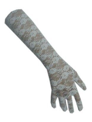 Handschoen kant lang wit