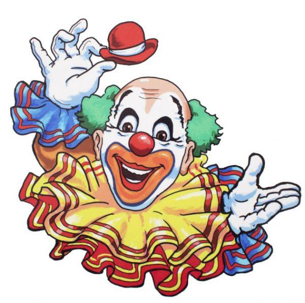 Raamsticker vrolijke clown