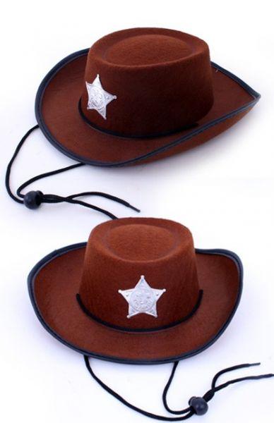 Cowboy hoed middel bruin