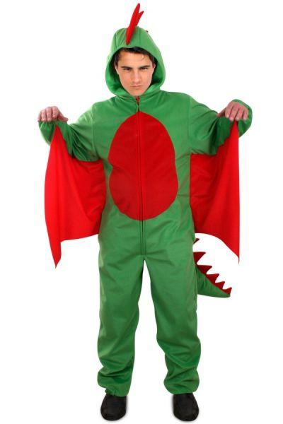 Groene draak pluche kostuum volwassen