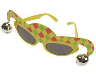Carnavalsbril nar met belletjes