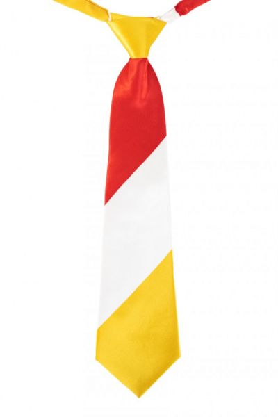 Stropdas Oeteldonk rood wit geel gestreept