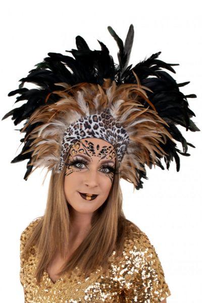 Indianen dans veren hoofdtooi Panther