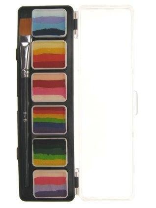 Special FX schmink 6 x 6 gram splitcake palet met penseel