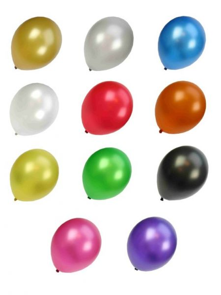 Kwaliteitsballon metallic assortie kleuren