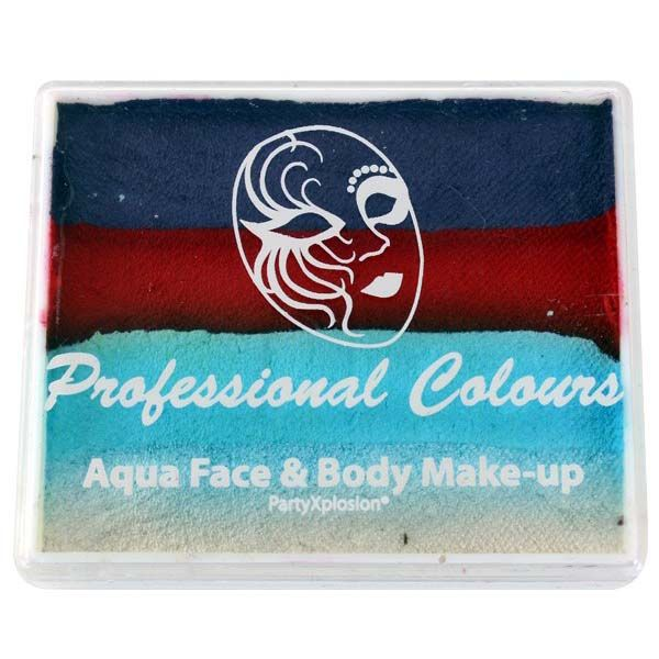Aqua face & body paint Purple Metallic Blue Light Blue White