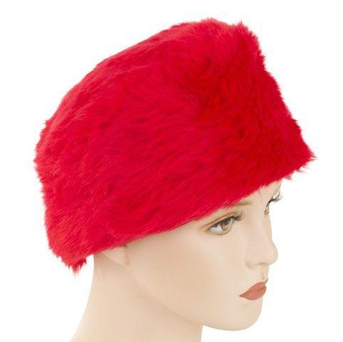 Bontmuts in de kleur rood